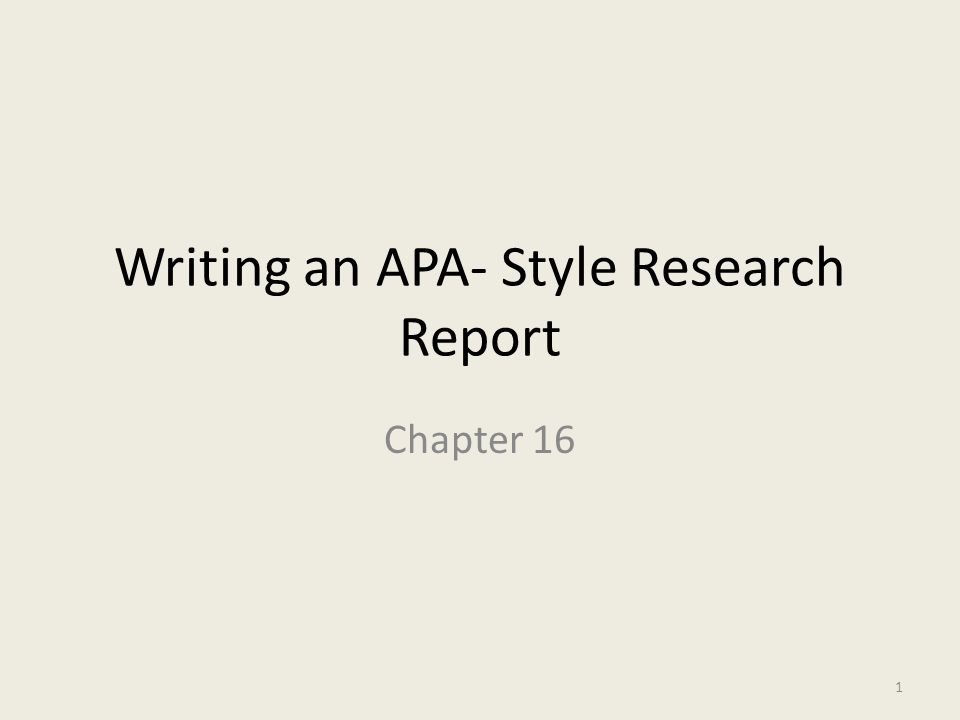 apa format lab report