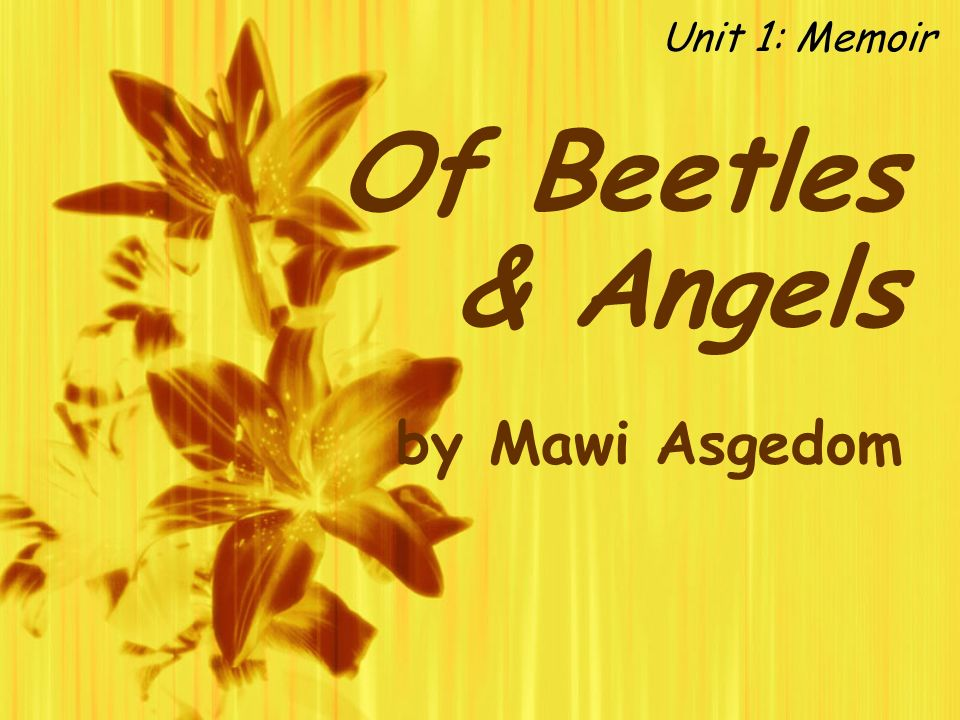 angels and beetles Of beetles and angels has 1,824 ratings and 360 reviews joyce said: true power comes from focusing on what we can give, not just on what we can take.