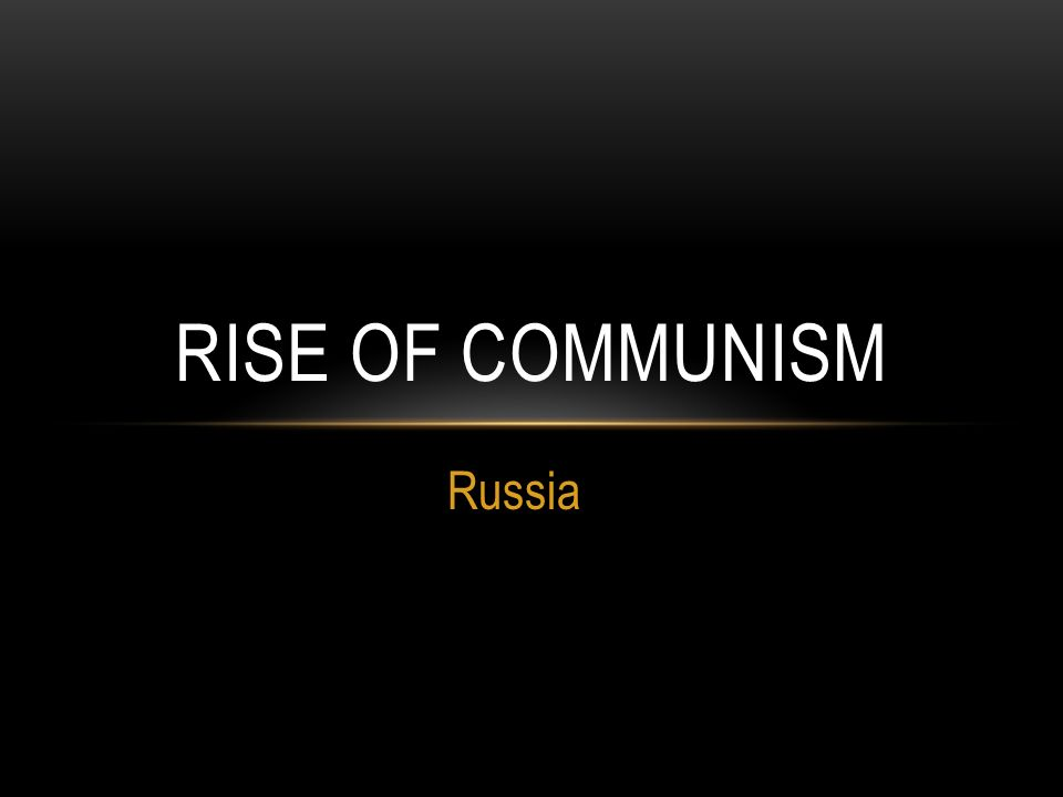 russia and the rise of communism in the country Other communist countries, such as east germany, were essentially satellites of the ussr that played a significant role during the cold war but no longer exist communism is both a political system and an economic one.