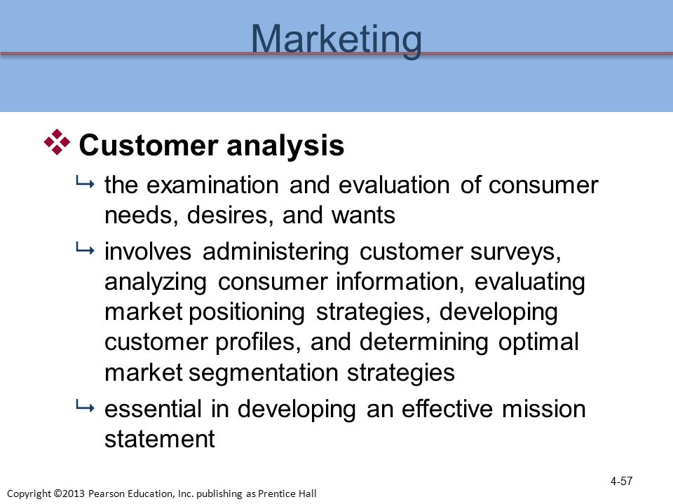 Customer analysis an important part of marketing recreation services