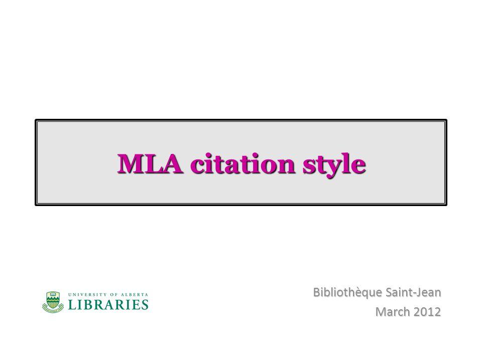 Bibliothèque Saint-Jean March 2012