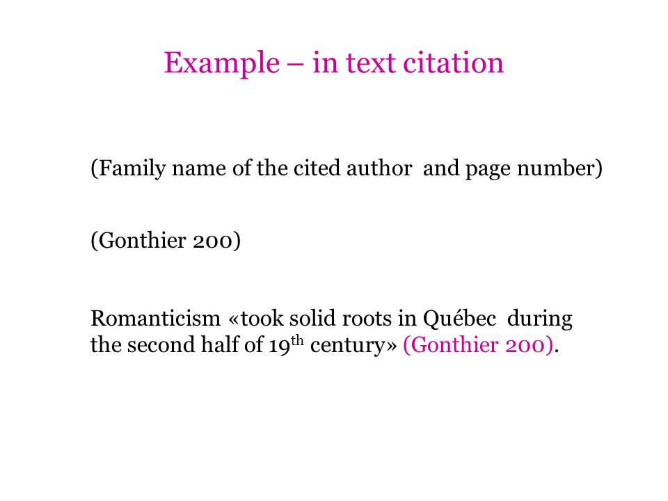Example – in text citation