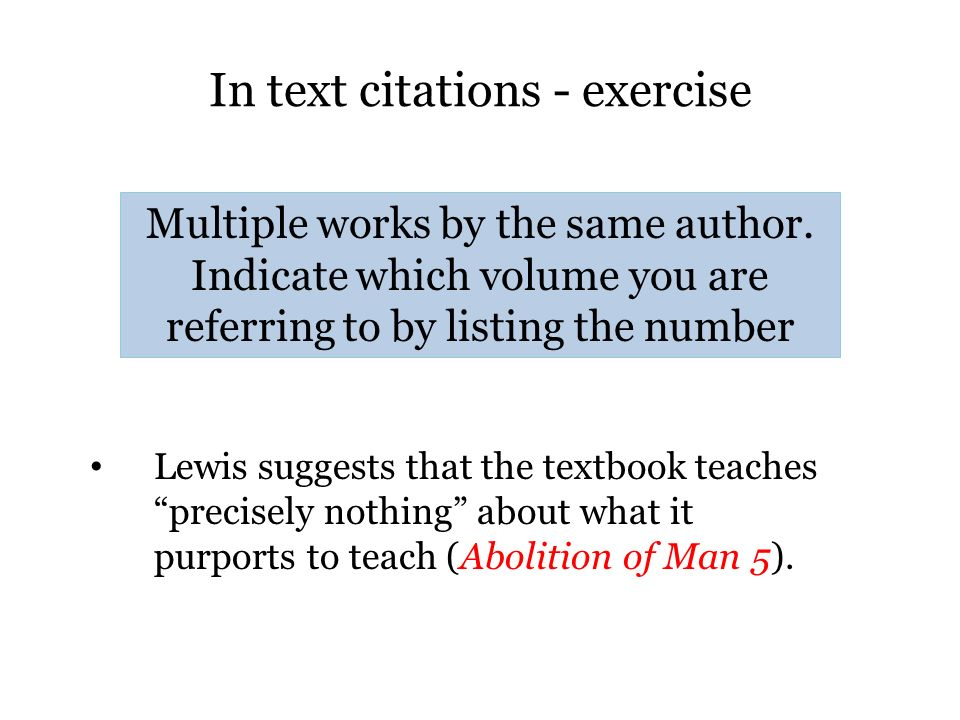 In text citations - exercise
