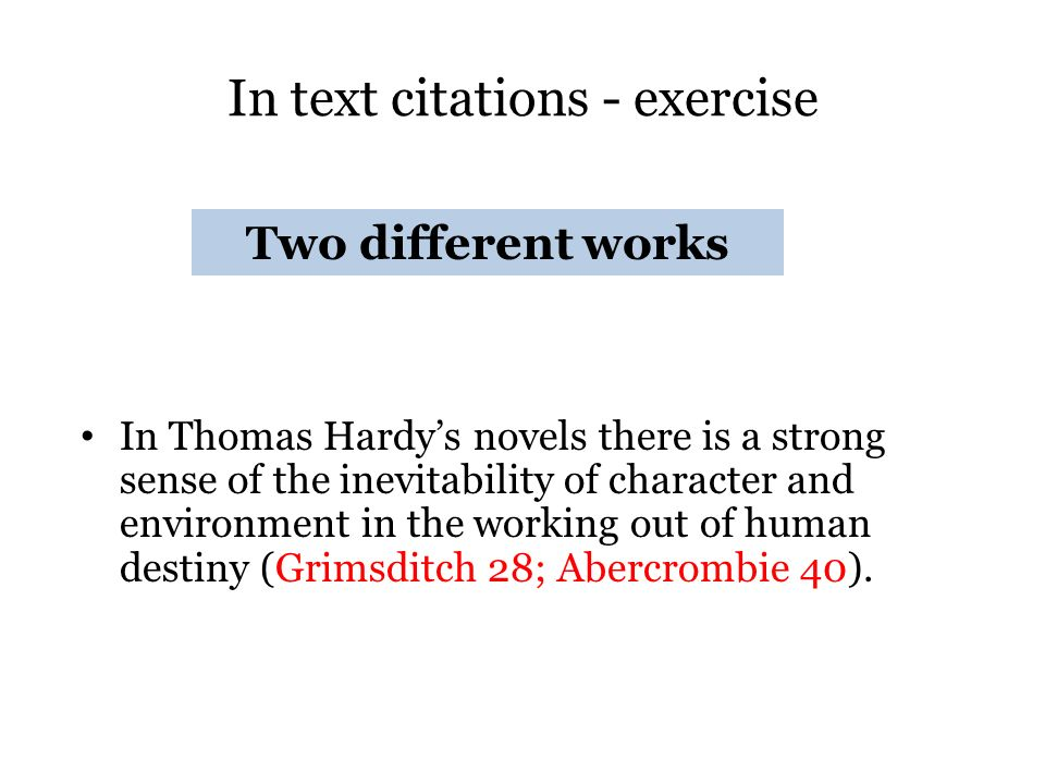 in text citation exercise