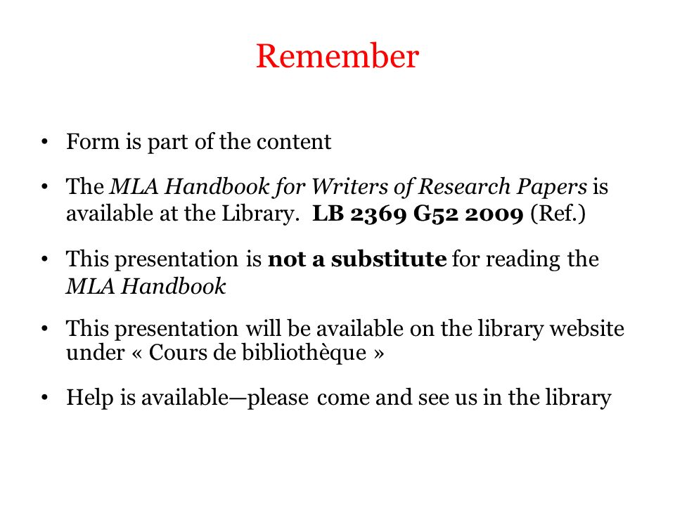mla guide for writing a research paper Mla style guide for middle school middle schools are expected to use this mla style guide when writing pieces that require information to be in the text of.