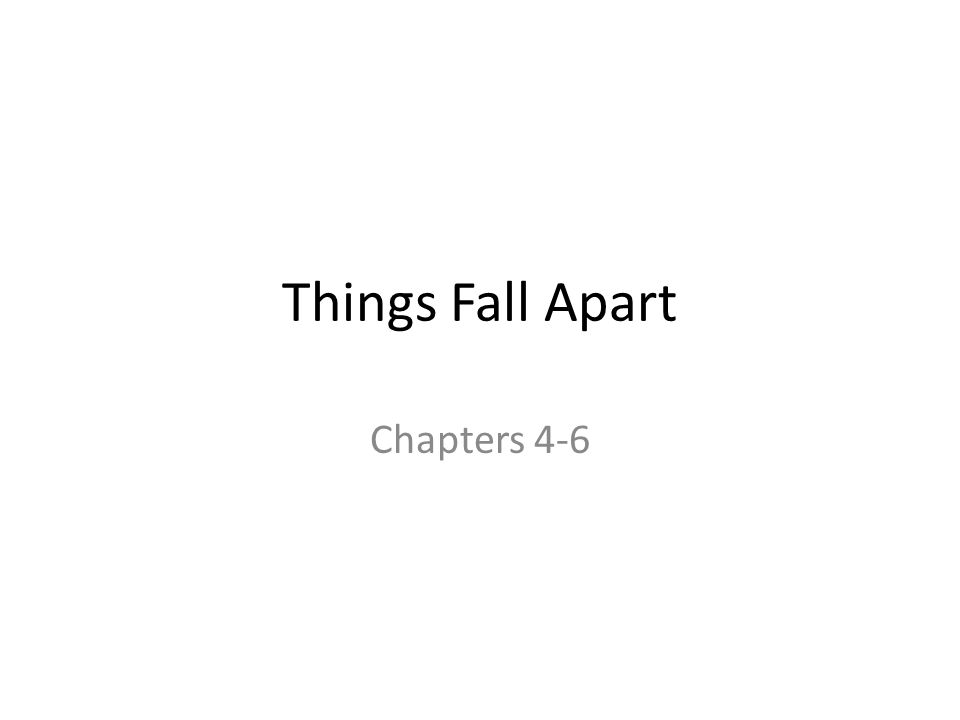 things fall apart 1 4 Watch video 1 2 3 4 5 6 7 8 9 10 49 / 10 x  a coming of age story about an inner-city youth raised by a hardworking single mother  'things fall apart' when a strange,.