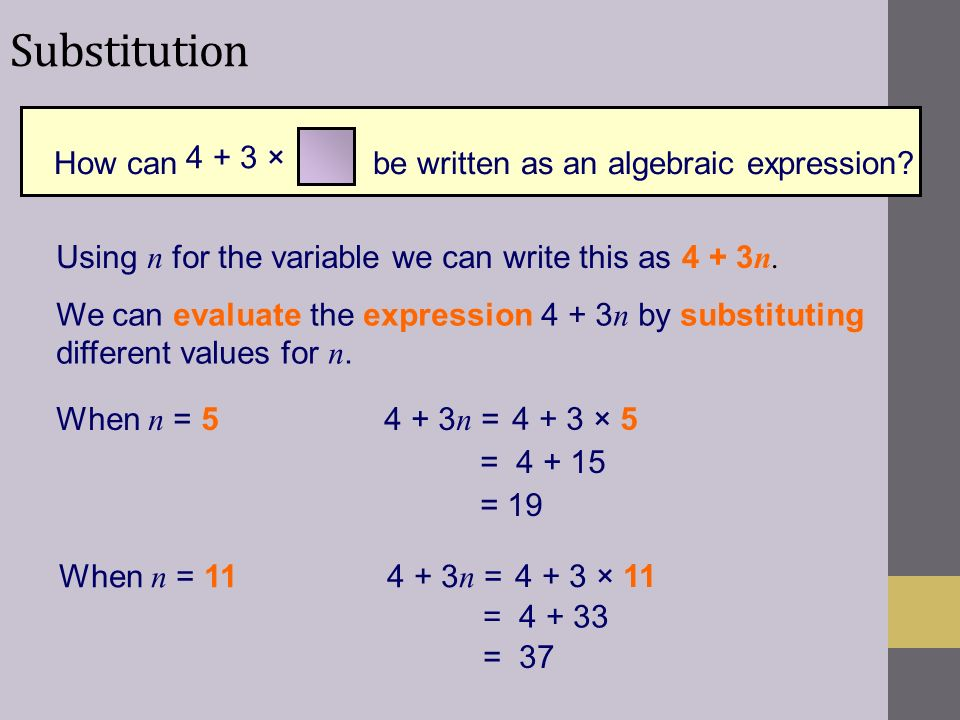 How can be written as an algebraic expression