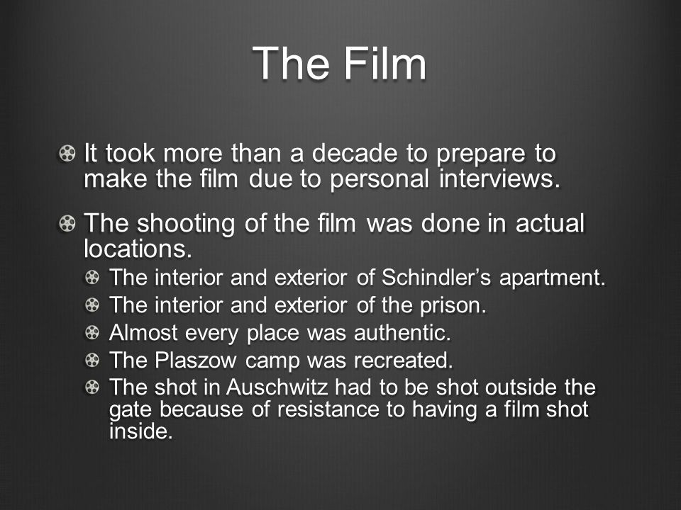 an analysis of the film about oscar schindler But the film left few clues as to why schindler devoted  he was one of the youngest 'schindlerjews' and later told how oscar schindler underwent a.