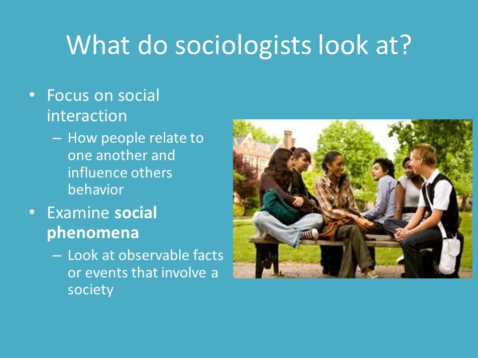 what do sociologists do Best answer: your question encompasses many levels of education and employment professional sociologists, those with phd degrees, are generally involved with academic research and teaching in university settings however, much research is also done by sociologists who are employed by ngos.