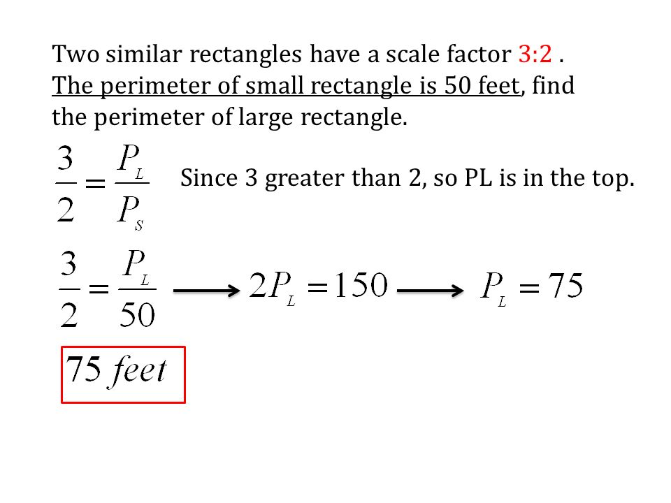 7 1 ratios and proportions ppt download two similar rectangles have a scale factor 32 ccuart Images