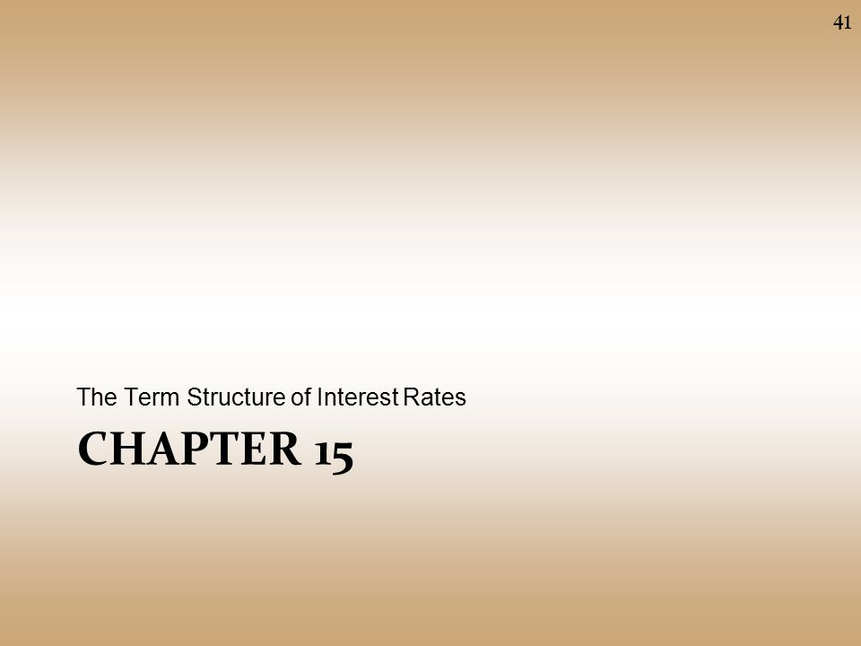 term structure of interest rates Federal reserve bank of st louis review september/october 2005 589 understanding the term structure of interest rates william poole funds rate by 25 basis points ever y time they have.