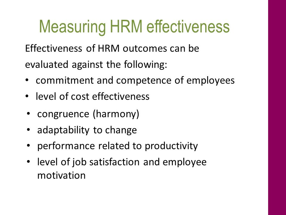 effectiveness of welfare measures on employee productivity Employees, and creating an effective relate to a unique job, we will not be able to measure employee measuring performance and productivity.