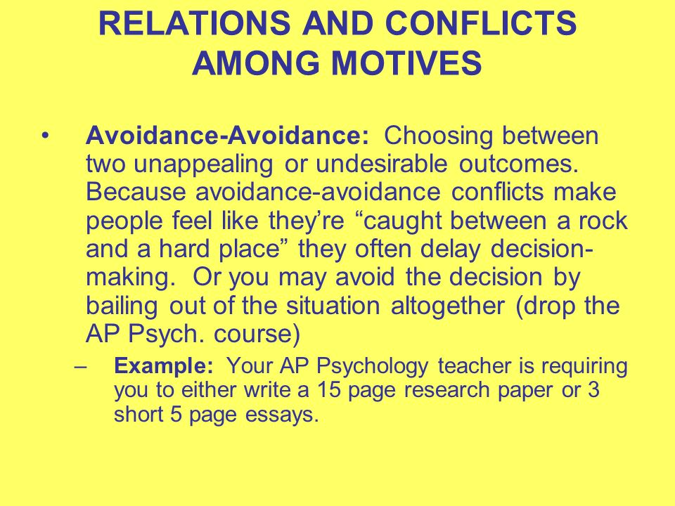 conflicts psychology Conflict (psychology) - definition definition: the internal individual struggle resulting from incompatible or opposing needs, drives, or external and internal demandsin group interactions, competitive or opposing action of incompatibles: antagonistic state or action (as of divergent ideas, interests, or persons).
