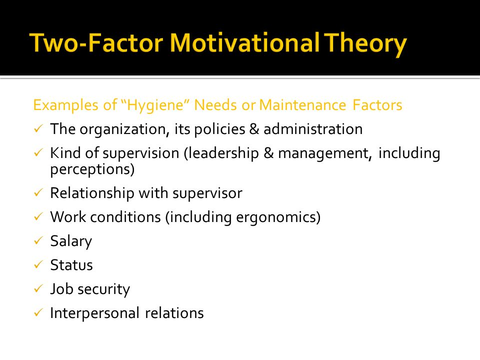 Two-Factor Motivational Theory
