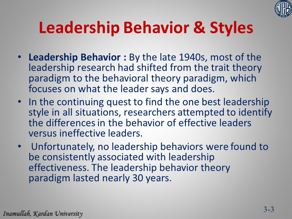 leadership traits behaviors and styles case1 Try to apply what you've read in the required background materials about leadership traits, behaviors, and styles case 1 leadership traits case.