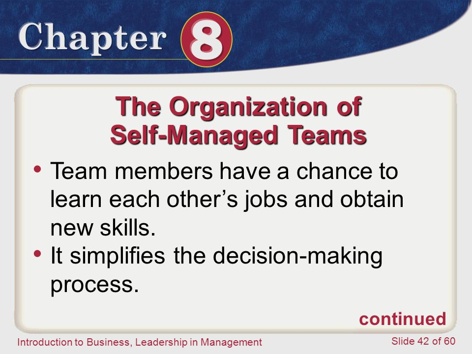 The Organization of Self-Managed Teams