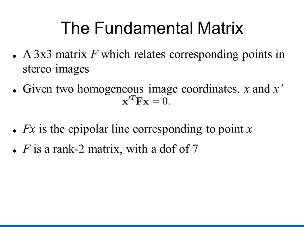 how to find the fundemental matrix