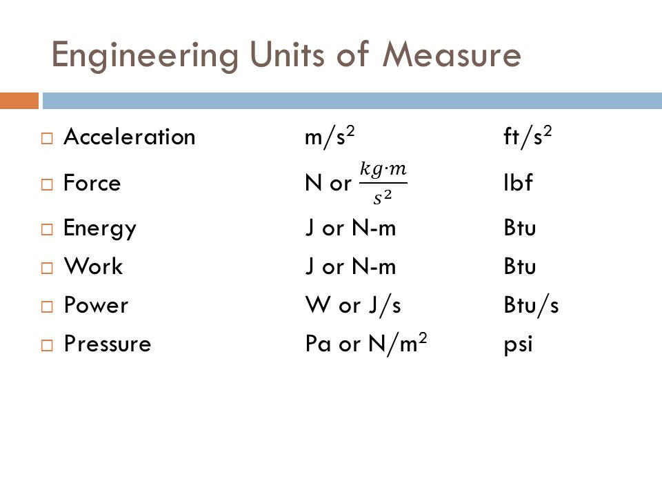 engineering units of measure ppt video online download. Black Bedroom Furniture Sets. Home Design Ideas