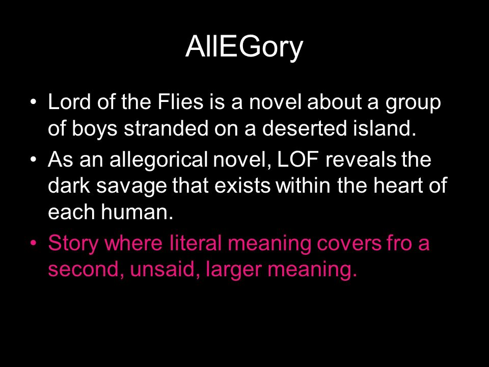lord of the flies essays on allegory