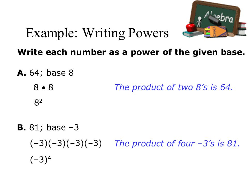 how to write a number as a power