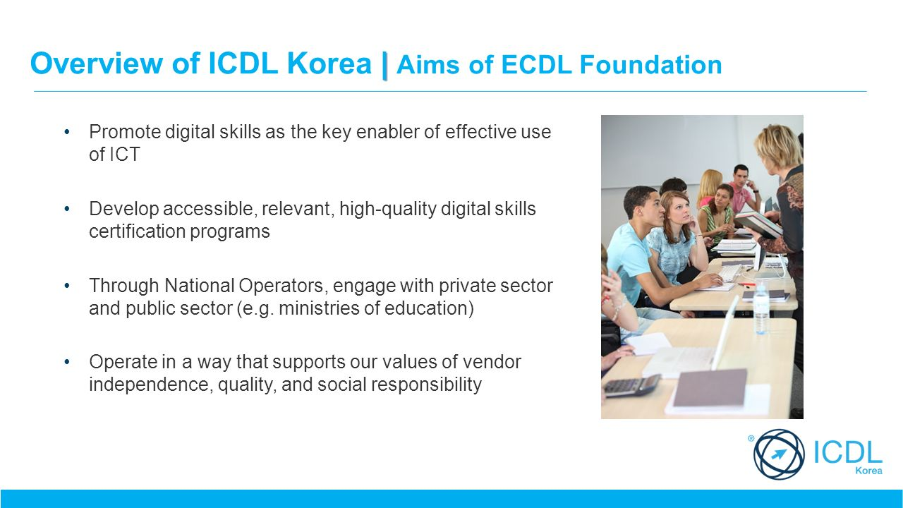 It security in south korea ppt video online download overview of icdl korea aims of ecdl foundation 1betcityfo Gallery