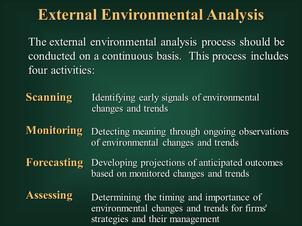 significance of external environment to the The most significant political external factors in apple's remote/macro- environment present opportunities this aspect of the pestel/pestle.