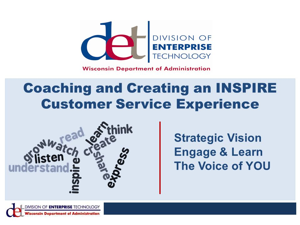 Coaching and Creating an INSPIRE Customer Service Experience - ppt ...