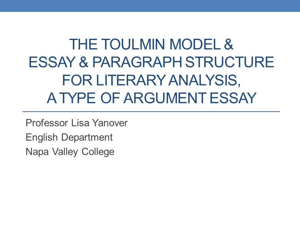 toulmin essay conclusion Check out our top free essays on toulmin essay to help you write your own essay.