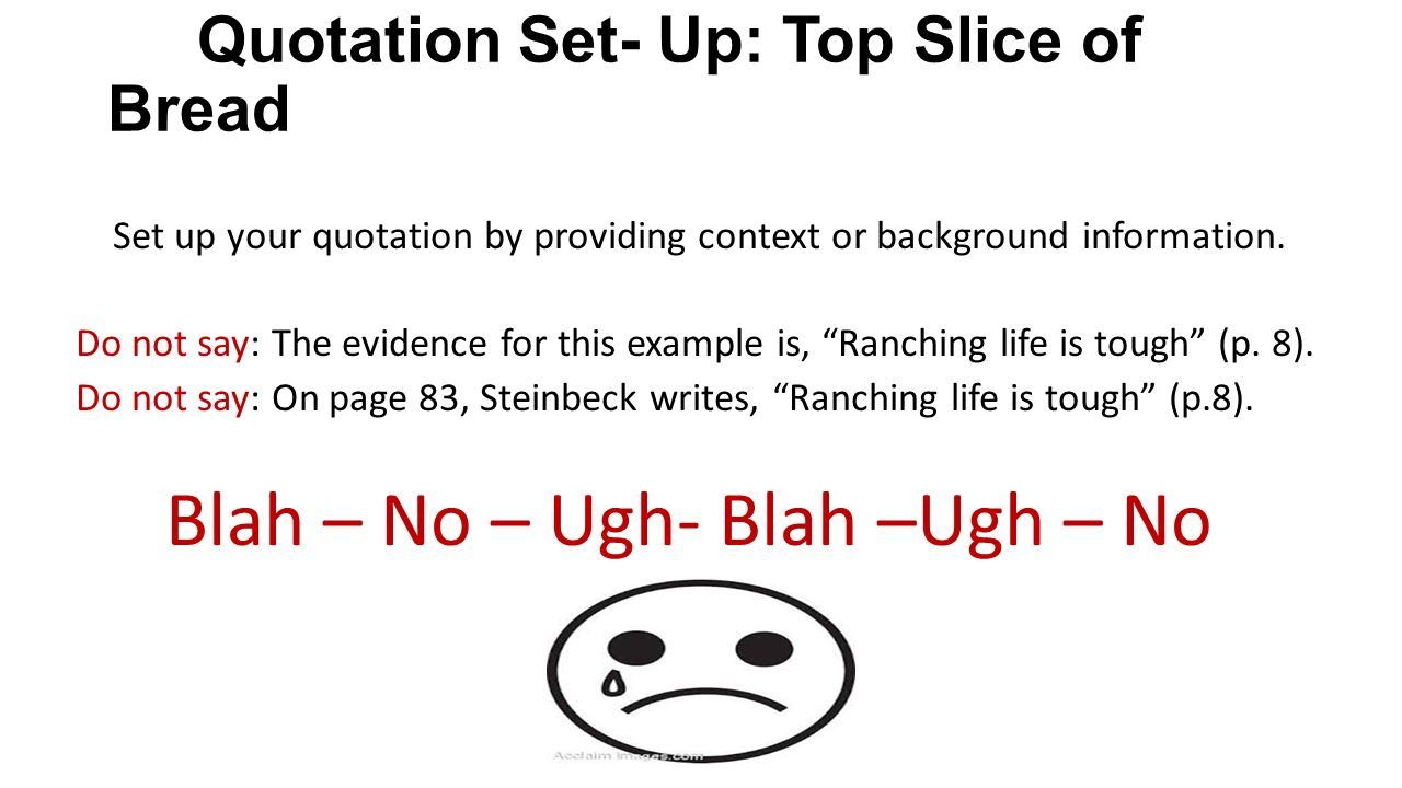 Slice Of Life Quote: A Mini-Lesson On Signal Phrases And Quotation Sandwiches