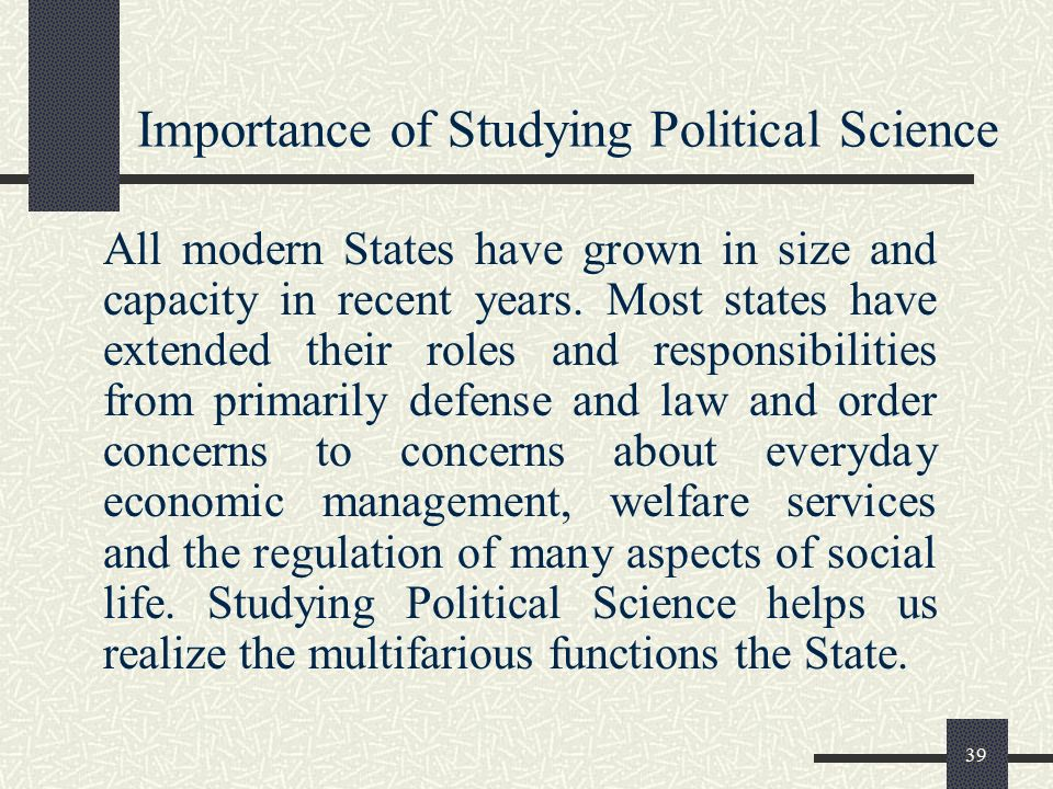 political science and economic aspects I asked my politics lecturer where i could go to study economics to help me   how they conduct their investigations, and the policy implications of their  research  traditional political science and economics departments try to.