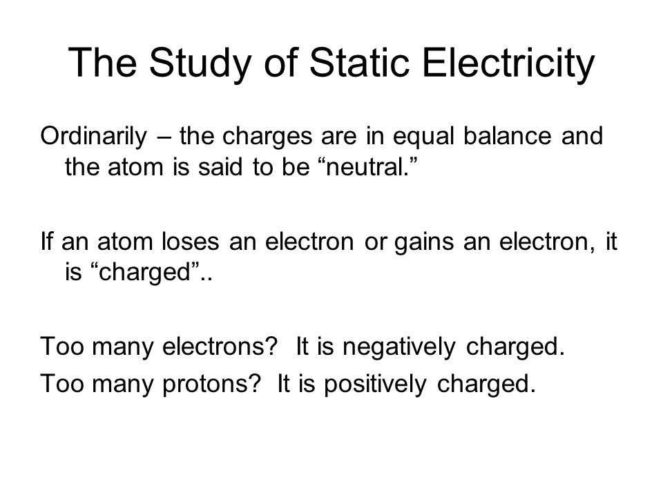 an introduction and an analysis of the static electricity Contact the preparing service for document interpretation and improvements  technical  standards regarding static electricity protection, lightning protection  systems and related grounding  chapter 1 introduction.