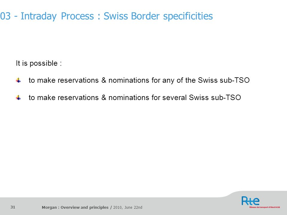 03 - Intraday Process : Swiss Border specificities