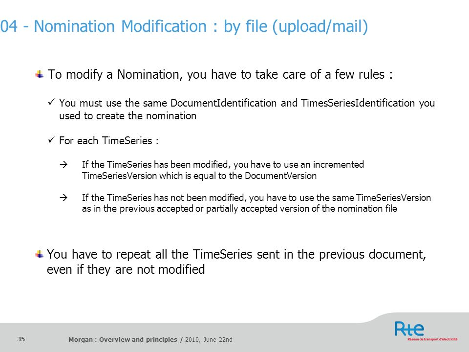 04 - Nomination Modification : by file (upload/mail)