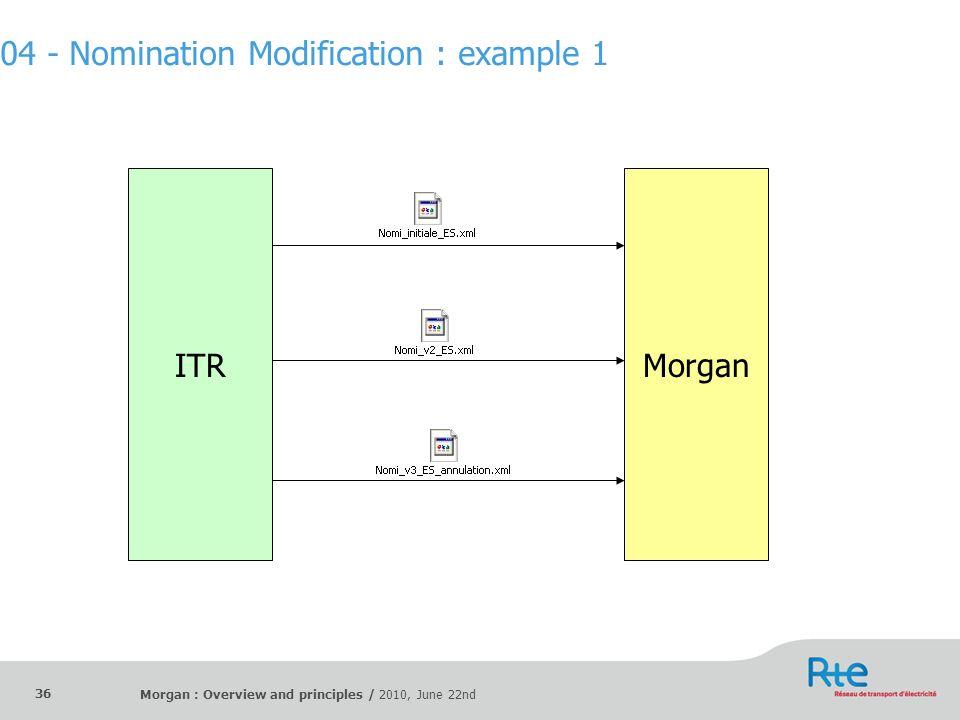 04 - Nomination Modification : example 1