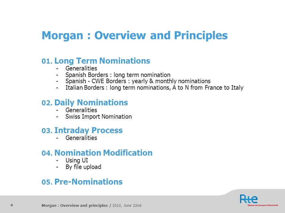 Morgan : Overview and Principles