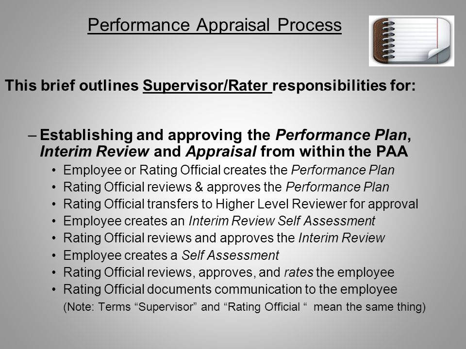 The National Guard Performance Appraisal Application PAA ...