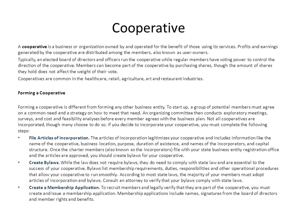 Membership Is Ownership: The Cooperative Advantage