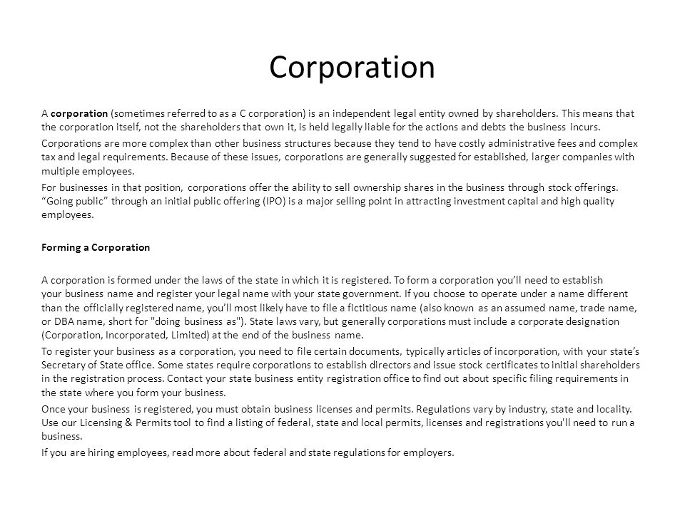 unincorporated entity registration Incorporating an association depending on whether your group is just starting out or is already an unincorporated including an entity's incorporation name.
