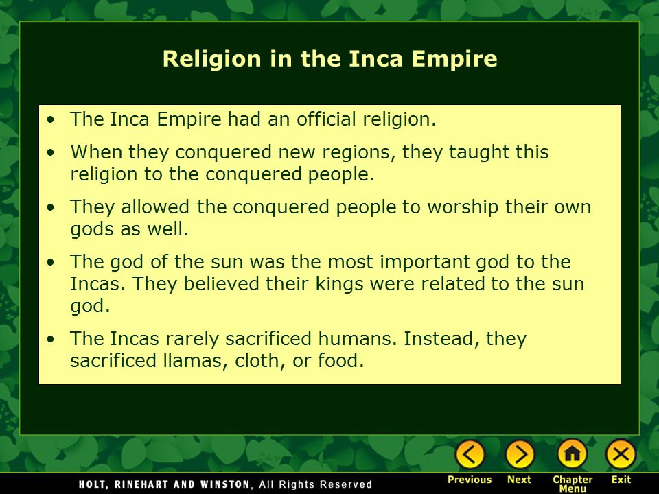 relationship between art and religion in the inca empire