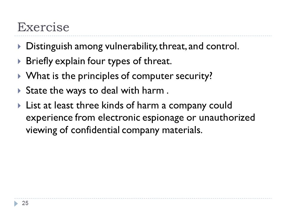 relationship among vulnerability threat and control