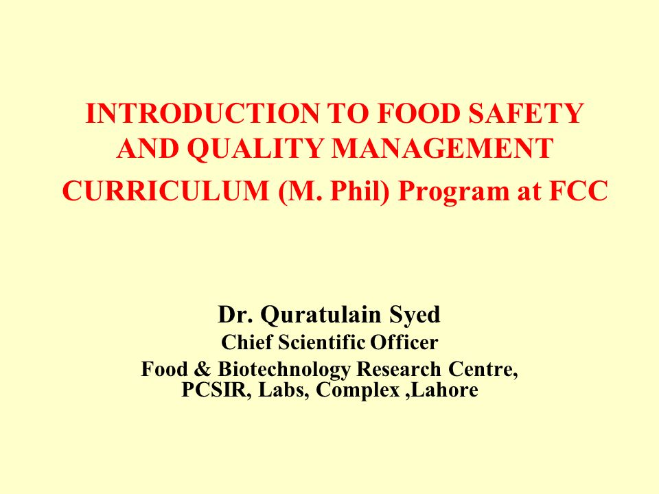 Food Safety Officer Online Course
