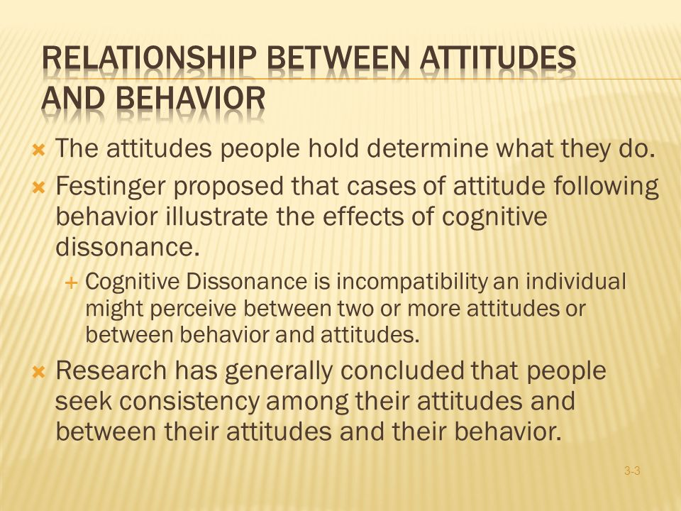 Relationship Between Attitudes and Behavior