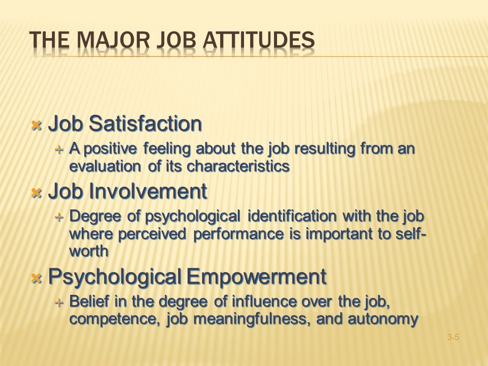 The Major Job Attitudes
