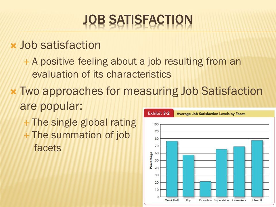 Job Satisfaction Job satisfaction