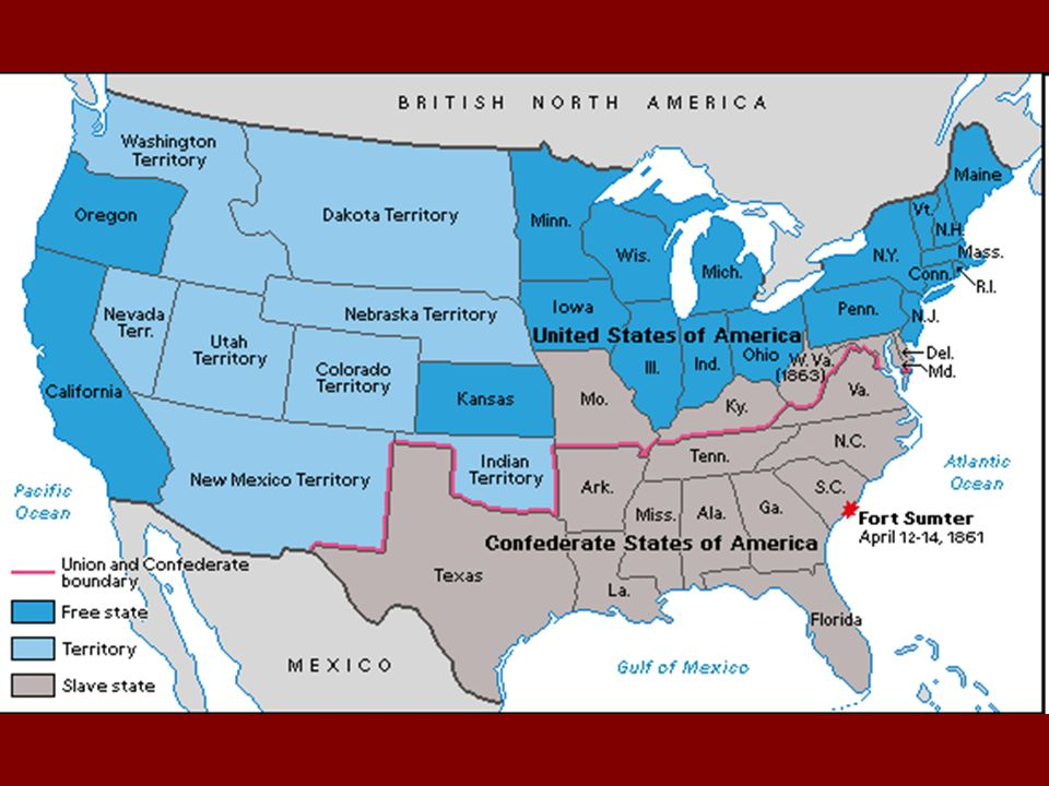 A Nation Divided Ppt Download - Ft sumter us map