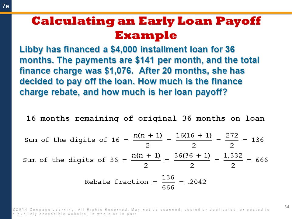 how to calculate loan payoff