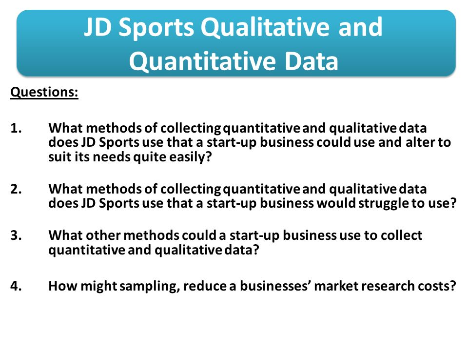quantitative marketing research Will your customer choose you over your competitor should you target a different demographic are people satisfied with your employees market research is the only effective way to obtain the answers to questions like these in conducting quantitative research, businesses (usually along with the.
