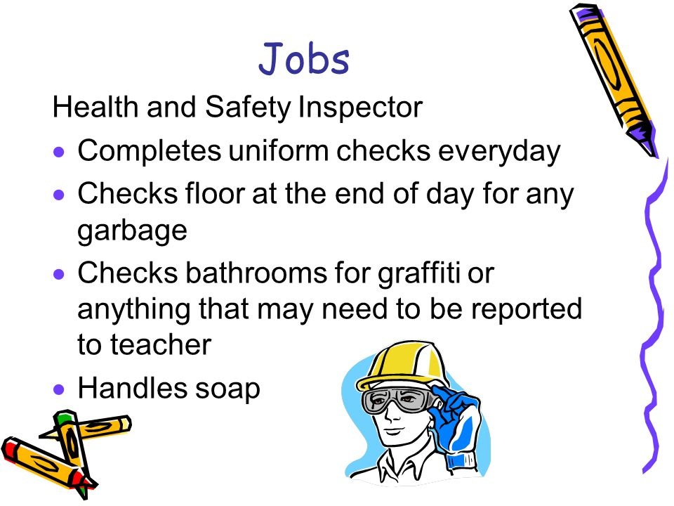Health and safety team inspection essay