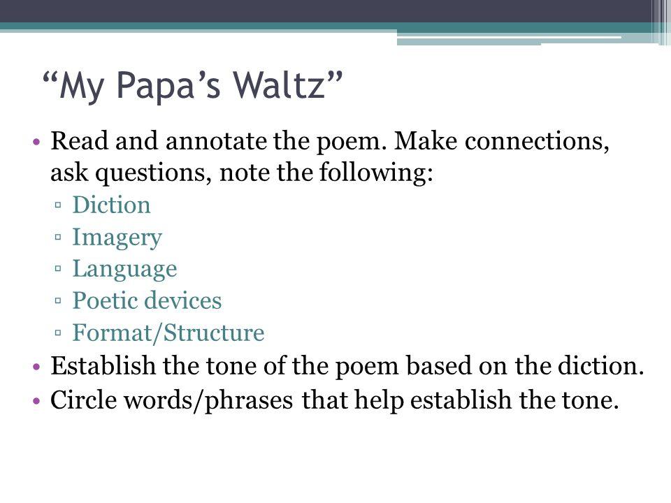 essay on my papas waltz