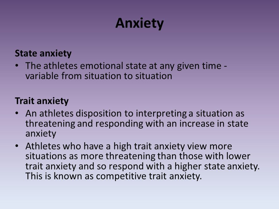 Emotional states associated with high risk and